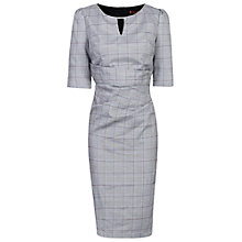 Buy Jolie Moi Check Woven Shift Dress, Grey Online at johnlewis.com