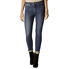 Buy Karen Millen High Waist Skinny Jeans, Dark Denim Online at johnlewis.com
