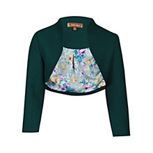 Buy Jolie Moi High Collar Bolero Jacket, Dark Teal Online at johnlewis.com