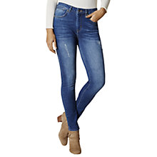 Buy Karen Millen Frayed Detail Skinny Jeans, Denim Online at johnlewis.com