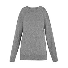 Buy Whistles Split Shoulder Jumper, Grey Marl Online at johnlewis.com