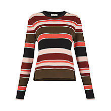Buy Whistles Split Front Stripe Sweater, Multi Online at johnlewis.com