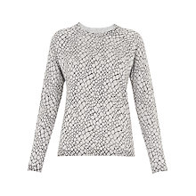 Buy Whistles Giraffe Print Crew Neck, Multi Online at johnlewis.com