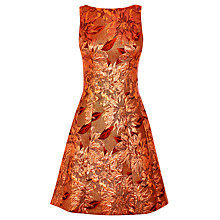 Buy Karen Millen Floral Jacquard Dress, Rose Gold Online at johnlewis.com