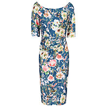 Buy Jolie Moi Floral Bonded Lace Half Sleeve Shift Dress Online at johnlewis.com