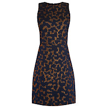 Buy Warehouse Animal Jacquard Dress, Navy Online at johnlewis.com