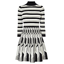 Buy Karen Millen Geometric Stripe Knit Dress, Multi Online at johnlewis.com