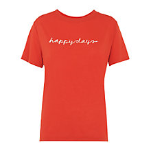 Buy Whistles Happy Days T-Shirt, Red Online at johnlewis.com
