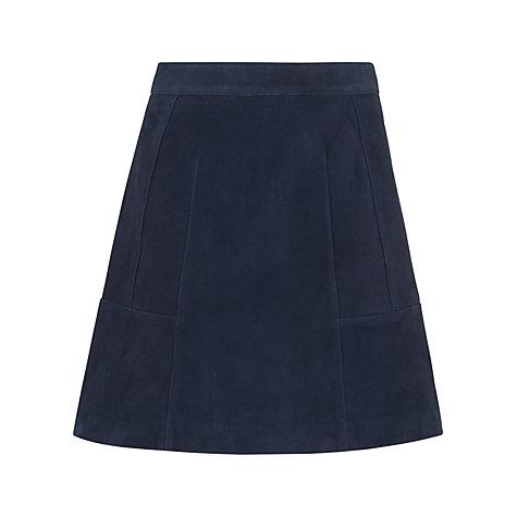 buy whistles leonie suede mini skirt navy lewis