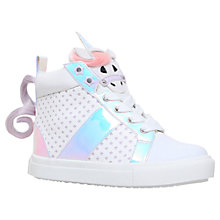 Buy Mini Miss KG Magical Unicorn Hi-Top Trainers, White/Multi Online at johnlewis.com