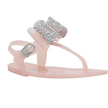 Buy Mini Miss KG Children's Daisy Sandals, Nude Online at johnlewis.com