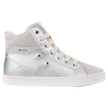 Buy Geox Children's Kiwi Metallic Hi Top Trainers Online at johnlewis.com