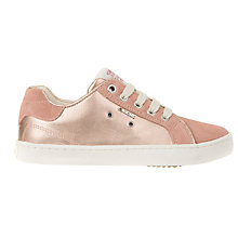Buy Geox Children's Kiwi Metallic Low Top Trainers, Rose Online at johnlewis.com
