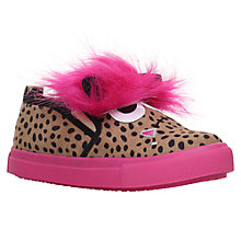 Buy Mini Miss KG Children's Roar Monster Slip-On Trainers, Pink/Multi Online at johnlewis.com