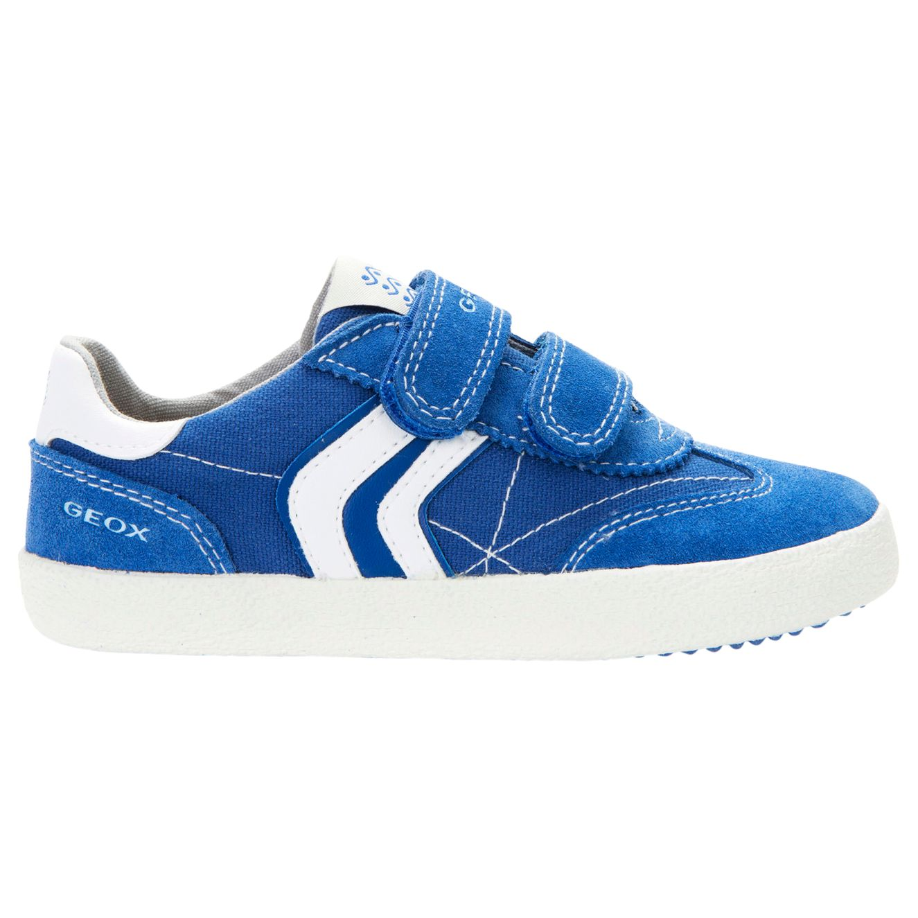 Geox Geox Children's Kiwi Double Rip-Tape Casual Shoes, Royal Blue/White