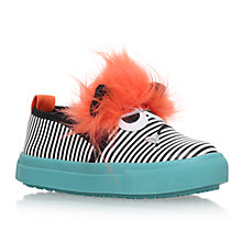 Buy Mini Miss KG Children's Roar Monster Slip-On Trainers, Black/Multi Online at johnlewis.com