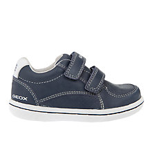 Buy Geox Children's Flick Double Rip-Tape Leather Shoes Online at johnlewis.com