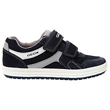 Buy Geox Children's Vita Double Rip-Tape Casual Shoes, Navy/Grey Online at johnlewis.com