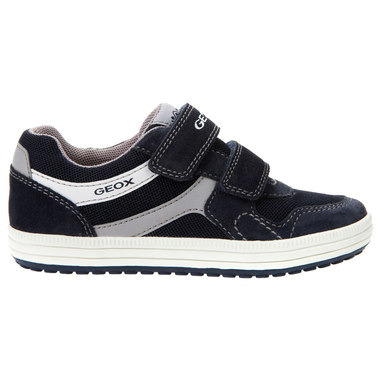 Geox Geox Children's Vita Double Rip-Tape Casual Shoes, Navy/Grey