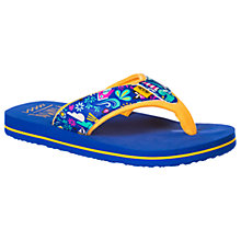 Buy Animal Children's Swish Upper Flip Flops, Cornflower Blue Online at johnlewis.com