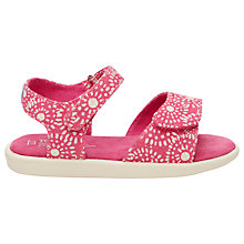Buy TOMS Children's Shibori Dots Tiny Toms Strappy Sandals, Fuchsia Online at johnlewis.com