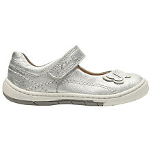 Buy Clarks Children's Softly Wow Mary Jane Shoes, Silver Online at johnlewis.com