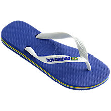 Buy Havaianas Children's Brasil Logo Flip Flops Online at johnlewis.com