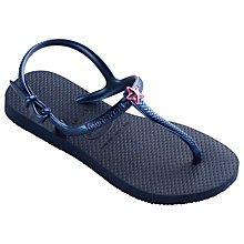 Buy Havaianas Children's Freedom Flip Flops, Blue Online at johnlewis.com