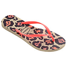 Buy Havaianas Children's Animal Print Flip Flops, Pink/Multi Online at johnlewis.com