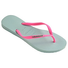 Buy Havaianas Children's Slim Logo Flip Flops Online at johnlewis.com