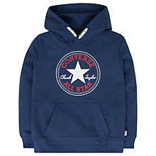 Buy Converse Boys' Core Pullover Hoodie, Navy Online at johnlewis.com