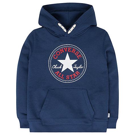 buy converse boys 39 core pullover hoodie navy john lewis. Black Bedroom Furniture Sets. Home Design Ideas