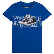 Buy Converse Boys' Run This City Trainer Print T-Shirt, Blue Online at johnlewis.com