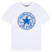 Buy Converse Boys' Seasonal Chuck Patch T-Shirt, White Online at johnlewis.com