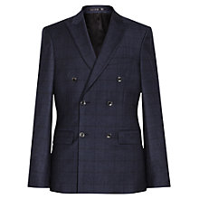 Buy Reiss Hour Tonal Check Double Breasted Slim Fit Suit Jacket, Navy Online at johnlewis.com