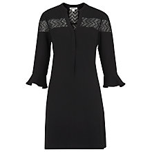 Buy Whistles Jerry Lace Panel Dress, Black Online at johnlewis.com