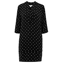 Buy Whistles Monica Spot Dress, Black/White Online at johnlewis.com