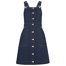Buy Whistles Gracie Dungaree Dress, Dark Denim Online at johnlewis.com