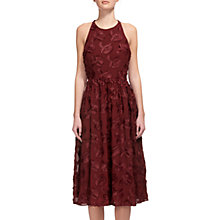 Buy Whistles Applique Textured Dress, Burgundy Online at johnlewis.com