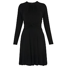 Buy Whistles Celestine Plain Jersey Dress, Black Online at johnlewis.com