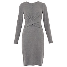 Buy Whistles Millie Pinstripe Jersey Dress, Grey/Multi Online at johnlewis.com