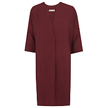 Buy Whistles Lulu Dress, Burgundy Online at johnlewis.com