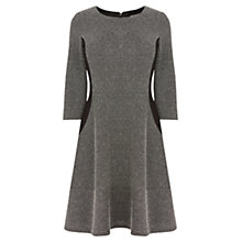 Buy Oasis Tweed Skater Dress, Mid Grey Online at johnlewis.com