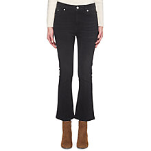 Buy Whistles Kick Flare Cropped Jean, Black Online at johnlewis.com
