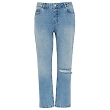 Buy Whistles Distressed Straight Jeans, Denim Online at johnlewis.com