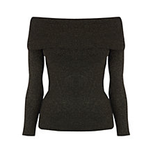 Buy Oasis Metallic Bardot Jumper, Multi Online at johnlewis.com