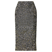 Buy Oasis Sequin Tube Skirt, Silver Online at johnlewis.com