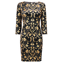 Buy Oasis Warner Archive Velvet Tube Dress, Black Online at johnlewis.com