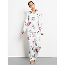 Buy hush Vintage Rose Pyjama Bottoms, White/Pink Online at johnlewis.com