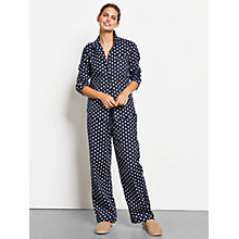 Buy hush Daisy Pyjama Set, Midnight/White/Rococco Red Online at johnlewis.com